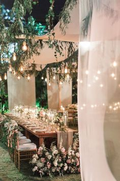 This Thailand Wedding Has Us Falling in Love With Floral Arbors All Over Again - Romantic weddings Romantic Wedding Centerpieces, Romantic Wedding Receptions, Outdoor Wedding Decorations, Romantic Weddings, Wedding Table, Our Wedding, Wedding Venues, Dream Wedding, Wedding Mood Board