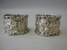 Pair of Kirk Baltimore Sterling Silver Napkin Rings