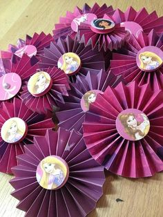 Disney Princess Paper Rosettes by PinkdotsCreate on Etsy, $13.99