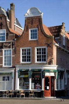 Delft  The Netherlands- Winkelwoonhuis In den Beslagen Bijbel op de markt