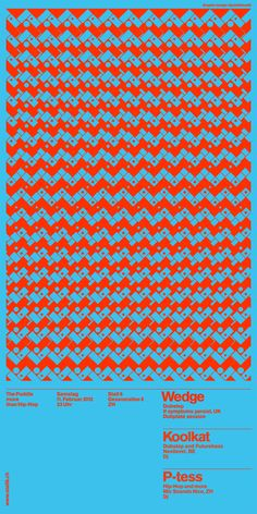 Love the marriage of Swiss Poster Design & Vibrating Psychedelic Color (by Andreas Gysin and Sidi Vanetti)