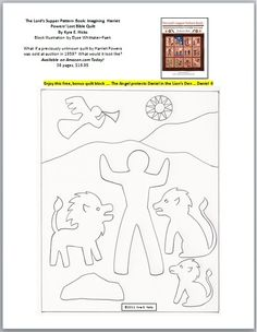 Here is a FREE Daniel in the Lion's Den quilt block. I was inspired to make this by Harriet Powers' lost Lord's Supper quilt. You can download it from my Black Threads blog.  Enjoy!  Kyra