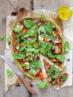 Grain free broccoli pizza crust