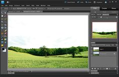 Photoshop Effects: how to fix bleached out skies - Step 1