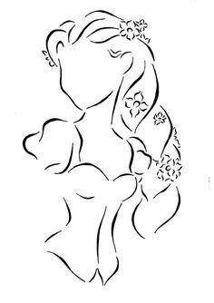 Rapunzel Lineart by *Kezzamin on deviantART