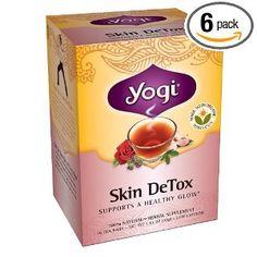 Yogi Tea, Organic Skin Detox Tea - with Green Tea, Rose Petal, Honeybush and Hibiscus.I love Tea! Te Detox, Detox Tea, Herbal Detox, Herbal Teas, Skin Detox, Organic Green Tea, Tea Blends, Detox Drinks, Herbalism
