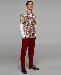 Domple Men Short Sleeve Button Down Fashion Print Spread Collar Dress Shirts