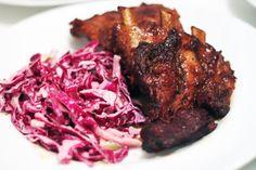 Caramel Pork Ribs and Garlicky Slaw - Amateur Gourmet