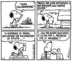 Le lezioni di Scrittura di Snoopy » Lettere di rifiuto / Ottimizzare i tempi #scrittura #snoopy