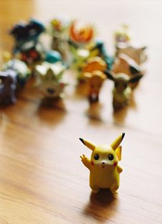 Pokemon minifigures. I still have my Pikachu and Evie. I gave my Charmander and Squirttle to my best friends when I was younger.