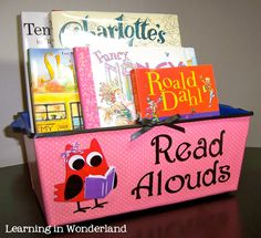 A place to put the books I plan to read to the kids. I like that this has the potential for my students to look through and possibly request which they would like you to read.