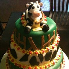 Cow cake for retirement party. It was a joke from a colleague.