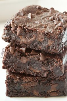 The Best Gluten-free Brownies (naturally sweetened, dairy-free, 100% whole grain). Can also be made with whole wheat flour!