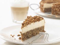Cappuccino cake with espresso - Backen süß - Coffee Recipes Homemade Cake Recipes, Healthy Dessert Recipes, Coffee Dessert, Coffee Cake, Other Recipes, Sweet Recipes, Cappuccino Torte, Cappuccino Coffee, Café Vintage