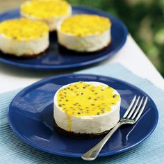 This simple vanilla cheesecake recipe, finished with passionfruit, makes the perfect dinner party dessert.