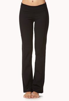 A pair of fit & flare yoga pants