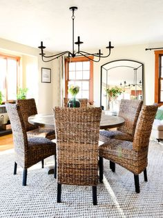 Pilgrim Project dining room - Seagrass dining chairs, Pottery Barn ...
