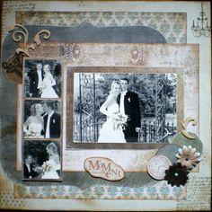 Wedding Scrapbooking Layout