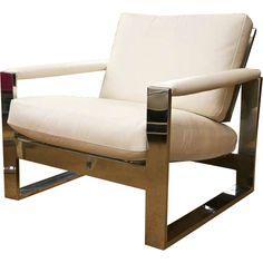 Milo Baughman Steel Armchair