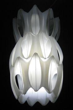 Heath Nath Lamp: Made from fabric softener bottles. Photo by scenari. #Lighting #Green _Heath_Nash #scenari  original URL: http://www.heathnash.com/others.php
