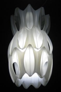 Heath Nash Lamp: Made from fabric softener bottles.