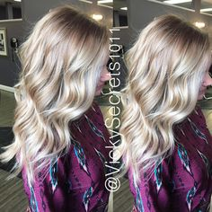 Gorgeous Melted root with balayage highlights