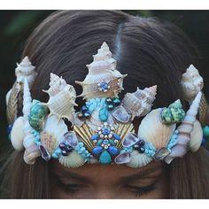 WEBSTA @ thenakedtiger -  mermaid crown @chelseasflowercrowns