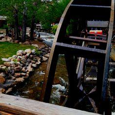A stroll along the River Walk near The Wheel in Estes Park