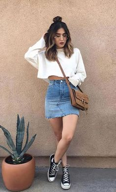 26 Ladies Outfit Trends That Will Make You Look Stylish Mode Outfits, Outfits For Teens, Casual Outfits, Fashion Outfits, Womens Fashion, Fashion Ideas, Fashion Trends, Cute Simple Outfits, Casual Ootd