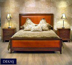 Doğal ceviz kaplama ve gürgen masiften üretilmiş, retro esintili, yeni Miramar yatak odası takımı. Yatak isteğe göre deri ya da kumaş olarak döşenebilir. Takımda 6 kapılı gardrop, şifonyer ve ayna da bulunmakta.