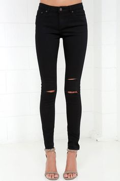 Obey Lean & Mean Classic Black Skinny Jeans at Lulus.com! ($68)