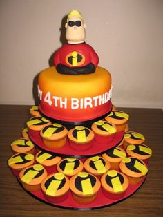 I want this Mr.Incredible cake for Luke!