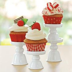 Cupcake Stands, Mini Cupcake Stands, Ceramic Dessert Stands | Solutions pin it