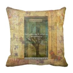 Inspirational Shakespeare quote about THE FUTURE Throw Pillows