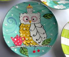 I like the owl, not the teapot or the cupcake though