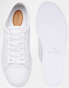 Image 3 of Lacoste Showcourt Lace 1 White Leather Sneakers