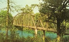 Old Bridge over the Springs River at Hardy, Arkansas  sadly gone now washed away during a flood