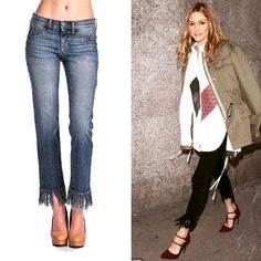 """16 Likes, 1 Comments - Keleigh's Boutique (@kellyatkeleighs) on Instagram: """"Get the hottest trend that Olivia Palermo is wearing! Our fringe bottom jeans! Under $50!!! Shop it…"""""""