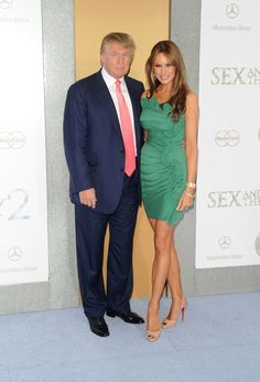 """Melania Trump Photos - Donald Trump (L) and Melania Trump attend """"Sex And The City Premiere presented by Mercedes-Benz And Maybach at Radio City Music Hall on May 2010 in New York City. - Mercedes-Benz And Maybach Present Sex And The City 2 Premiere Donald Trump, Donald And Melania Trump, John Trump, Trump Is My President, First Lady Melania Trump, Trump Melania, Trump Picture, Trump Photo, Melina Trump"""