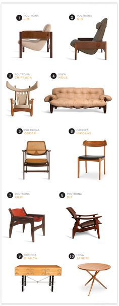 10 móveis de Sergio Rodrigues, grande nome do design brasileiro.