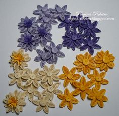 Regina Ribeiro: Mais flores em quilling