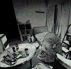 Oyasumi Punpun <3 Manga Art, Manga Anime, Goodnight Punpun, White Art, Black And White, Here I Go Again, Set Me Free, Dark Gothic, Manga Illustration