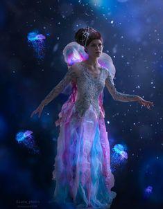 Dance Costumes, Cosplay Costumes, Dc Cosplay, Jellyfish Halloween Costume, Aquaman Cosplay, Slimming Corset, Crown, Layered Skirt, Feminine Style