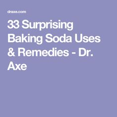 33 Surprising Baking Soda Uses & Remedies - Dr. Axe