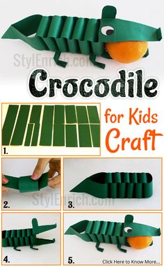 Don't we all love easy #PaperCraft ideas? I have brought an amazing 3D Origami Crocodile tutorial that is a fun #DIYPaperProject for kids. This is the best DIY project for kids to be used at school as a part of fun activities.