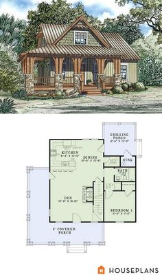 Craftsman Style House Plans - 3 Beds 2 Baths 1374 Sq/Ft Plan Other Floo. - Craftsman Style House Plans – 3 Beds 2 Baths 1374 Sq/Ft Plan Other Floor Plan – Housep - Craftsman Cottage, Craftsman Style House Plans, Country House Plans, Tiny House Plans, Cabin Floor Plans Small, Small Cottage Plans, Log Cabin House Plans, Cottage Floor Plans, Craftsman Homes