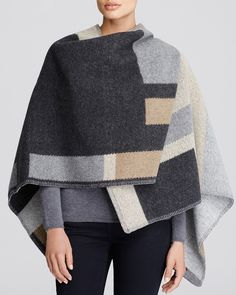 Burberry Colorblock Mega Check Blanket Cape | Bloomingdale's