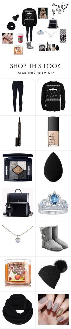 """""""Untitled #594"""" by cuddles2199 ❤ liked on Polyvore featuring Frame Denim, Smith & Cult, Max Factor, NARS Cosmetics, Christian Dior, beautyblender, Disney, Cartier, UGG Australia and Black"""