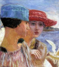 Pierre Bonnard (1867-1947) Young Women with a Seagull (1917) oil on canvas