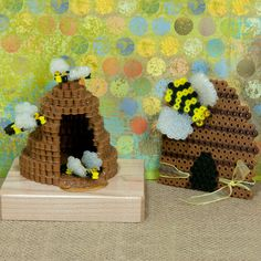<p>Designed By Holly Craft</p>  <p>Make these sweet beehive creations with Perler Beads! You can create a flat beehive and one in 3-D along with bees in two different sizes. These are cool decorations for your table and refrigerator (magnets are optional).</p>